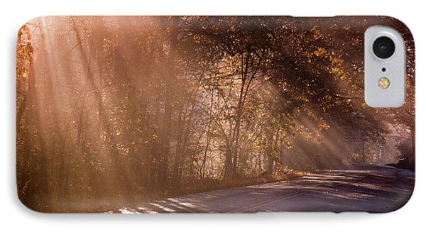 IPhone Case featuring the photograph Autumn God Light by Tom Singleton