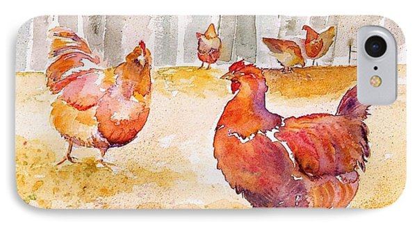 Autumn Hens Phone Case by Carolyn Doe