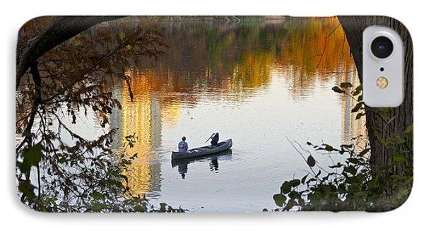 Autumn Idyll On Lake Austin Phone Case by Sean Griffin