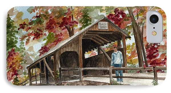IPhone Case featuring the painting Autumn In Knoebels Grove  by Nancy Patterson