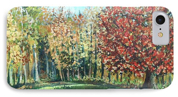 Autumn In My Backyard  IPhone Case