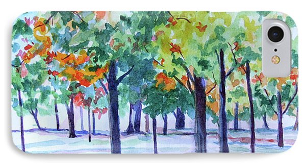 Autumn In The Park IPhone Case by Jan Bennicoff