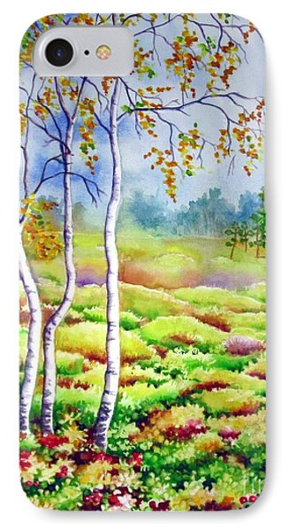IPhone Case featuring the painting Autumn Marsh by Inese Poga