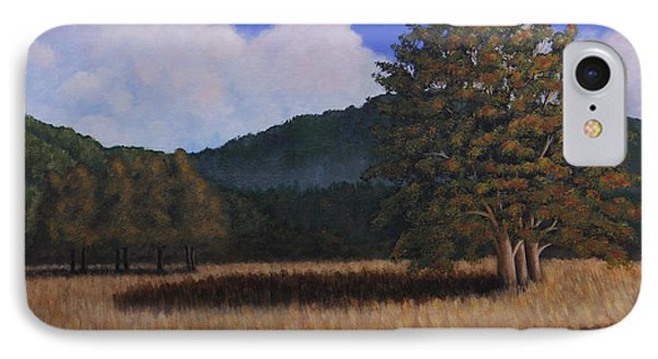 IPhone Case featuring the painting Autumn Meadow by Janet Greer Sammons