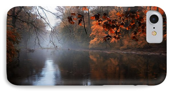 Autumn Morning By Wissahickon Creek Phone Case by Bill Cannon