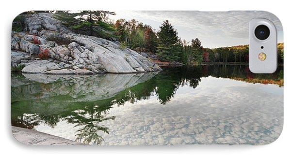 Autumn Nature Lake Rocks And Trees IPhone Case