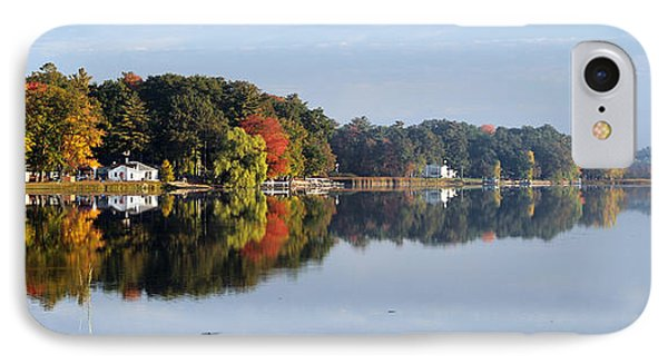 IPhone Case featuring the photograph Autumn Reflection On The Peshtigo River by Mark J Seefeldt