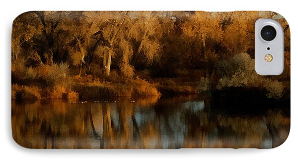 Autumn Reflections Painterly Phone Case by Ernie Echols