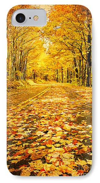 Autumn Road Phone Case by Darren Fisher