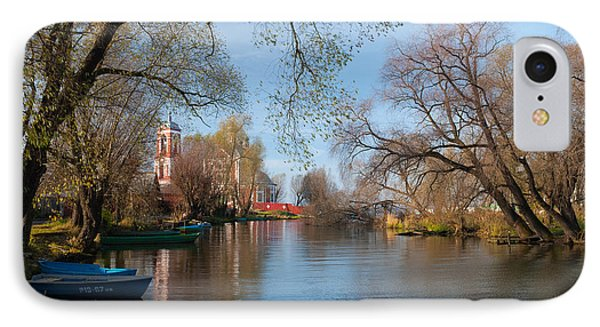 Autumn Scene On The River Phone Case by Konstantin Gushcha