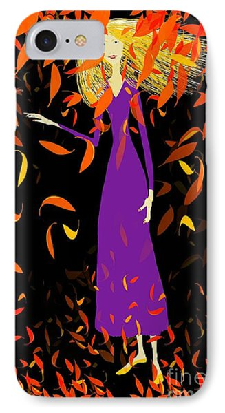 IPhone Case featuring the digital art Autumn Spirit by Barbara Moignard