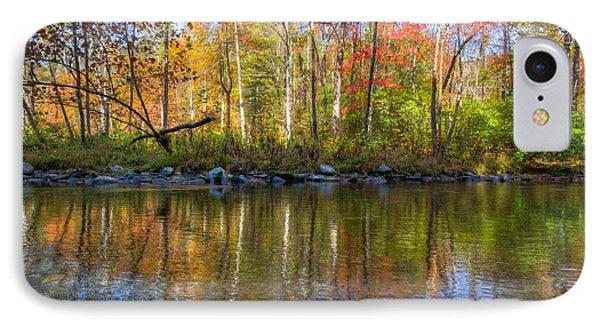 Autumn Stream Phone Case by Debra and Dave Vanderlaan