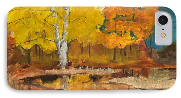 IPhone Case featuring the painting Autumn Tranquility by Cynthia Morgan