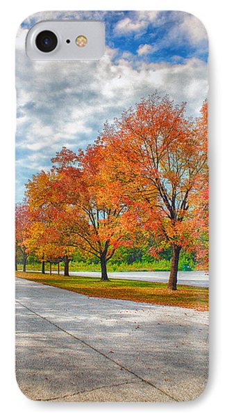 Autumn Trees At Busch Phone Case by Bill Tiepelman