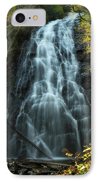 IPhone Case featuring the photograph Autumn Waterfall by Deborah Smith