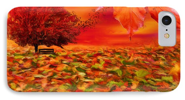 Autumnal Scene IPhone Case by Lourry Legarde