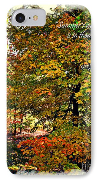 Autumn's Warmth Inspiration Quote Phone Case by Joan  Minchak