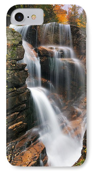 Avalanche Falls - Franconia Notch Phone Case by Thomas Schoeller