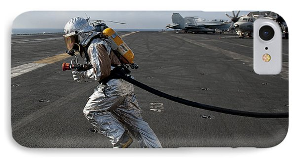 Aviation Boatswain's Mate Carries Phone Case by Stocktrek Images