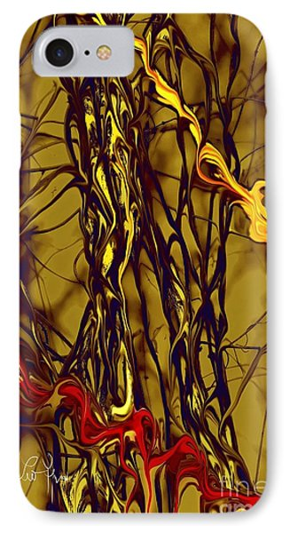 IPhone Case featuring the digital art Shapes Of Fire by Leo Symon
