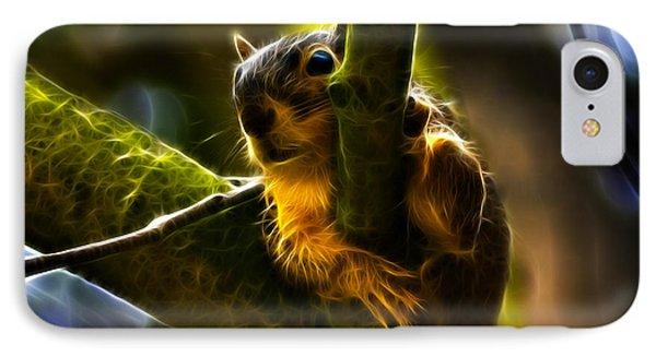 Awww Shucks- Fractal - Robbie The Squirrel IPhone Case by James Ahn