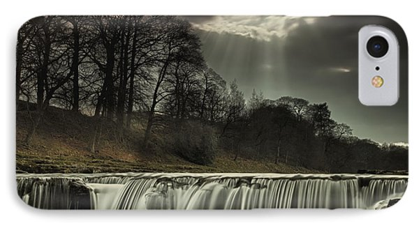 Aysgarth Falls Yorkshire England Phone Case by John Short