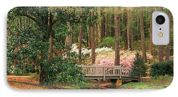 Azaleas And Footbridge Phone Case by Michael Hubrich and Photo Researchers
