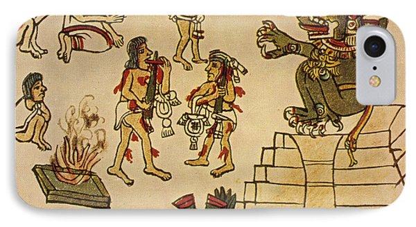 Aztec Priests Appease Mictlantecuhtli Phone Case by Photo Researchers