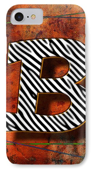 B IPhone Case by Mauro Celotti