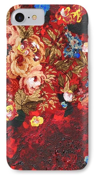 IPhone Case featuring the painting Baba's Garden Lg by Alys Caviness-Gober