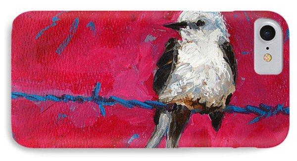 Baby Bird On A Wire Phone Case by Patricia Awapara