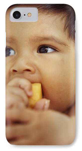 Baby Boy Eating Phone Case by Ian Boddy