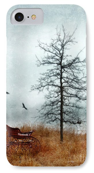 Baby Buggy By Tree With Nest And Birds Phone Case by Jill Battaglia