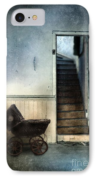 Baby Buggy In Abandoned House Phone Case by Jill Battaglia