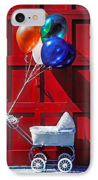 Baby Buggy With Balloons  Phone Case by Garry Gay