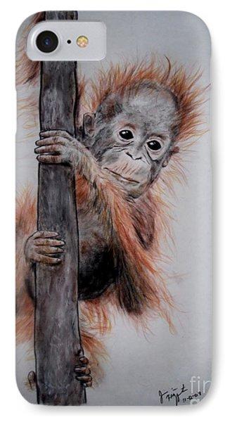 Baby Orangutan  Phone Case by Jim Fitzpatrick