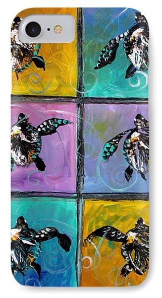 Baby Sea Turtles Six Phone Case by J Vincent Scarpace