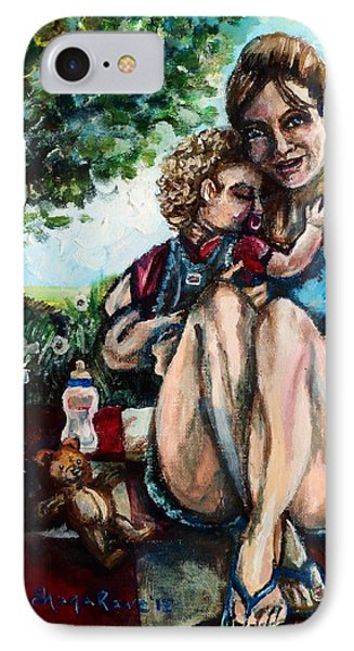 Baby's First Picnic Phone Case by Shana Rowe Jackson