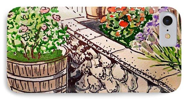 Backyard Sketchbook Project Down My Street Phone Case by Irina Sztukowski