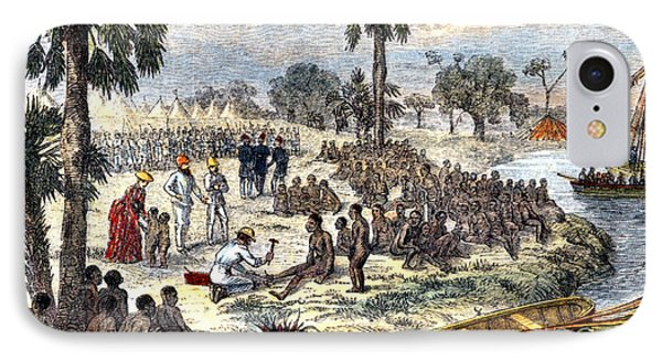 Baker Liberating Slaves In Africa, 1869 Phone Case by Photo Researchers