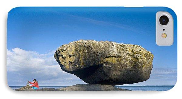 Balance Rock, British Columbia Phone Case by David Nunuk