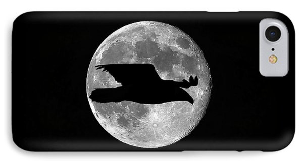 Bald Eagle Moon Phone Case by Al Powell Photography USA