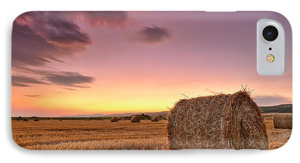 Bales At Twilight Phone Case by Evgeni Dinev