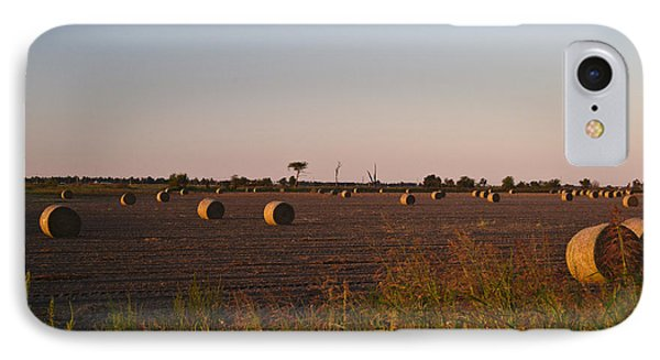 Bales In Peanut Field 10 Phone Case by Douglas Barnett