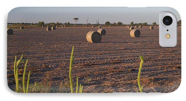 Bales In Peanut Field 12 Phone Case by Douglas Barnett