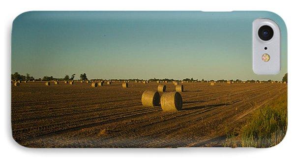 Bales In Peanut Field 13 Phone Case by Douglas Barnett