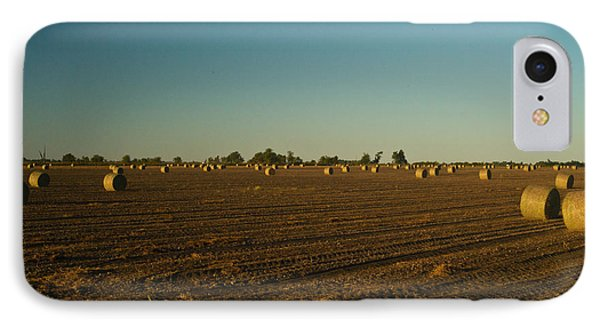 Bales In Peanut Field 9 Phone Case by Douglas Barnett