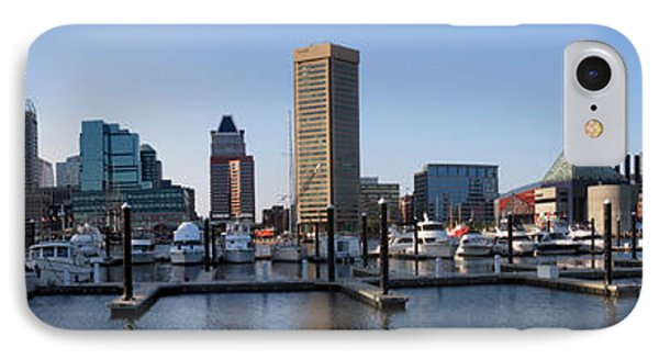 IPhone Case featuring the photograph Balitmore Inner Harbor Panorama by Darleen Stry