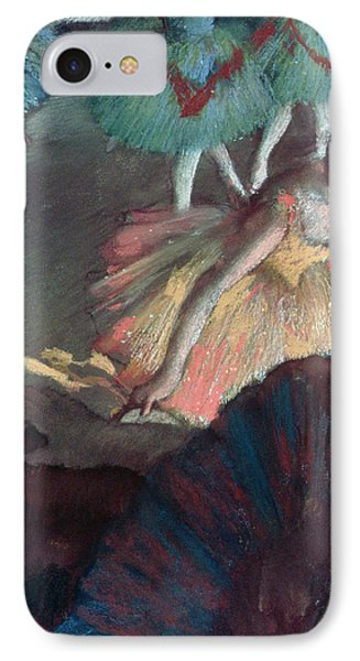Ballerina And Lady With A Fan Phone Case by Edgar Degas