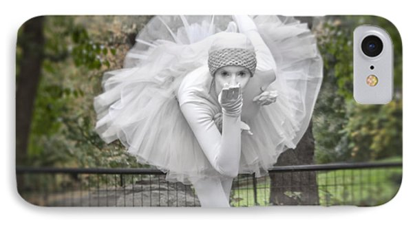 Ballerina In The Park IPhone Case by Loriannah Hespe